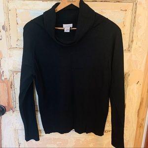 Black Ann Taylor Loft Cowl Neck Sweater L